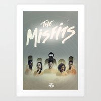 misfits Art Prints featuring Misfits Print by LostMind