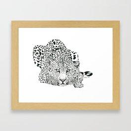 Leopard Ink Painting (print) Framed Art Print