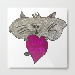 Fat Cat by Cambria (Support a Future Artist) Metal Print