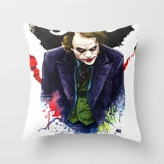 Angel Of Chaos (The Joker) Throw Pillow