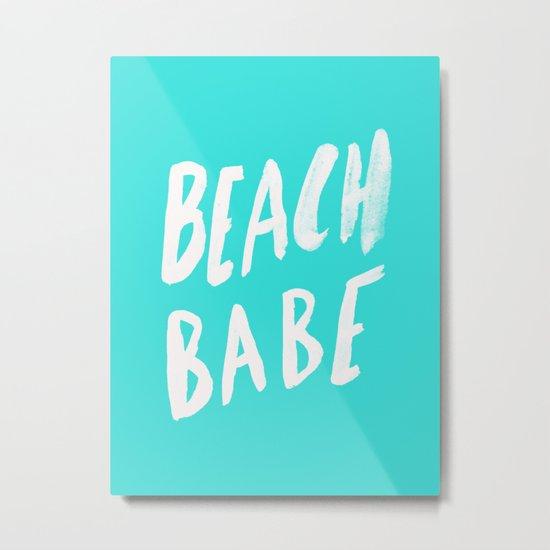 Beach Babe x Teal Metal Print