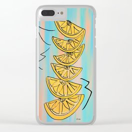 A Stack of Lemon Slices - Modern Clear iPhone Case