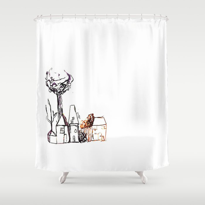 Spooky Shower Curtain By Mgracepfender