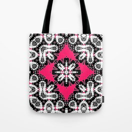 Geometric Tribal Hot Pink & Black Tote Bag