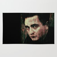 johnny cash Area & Throw Rugs featuring Cash by Sirenphotos