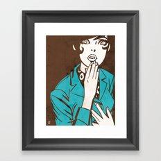60s Girl Framed Art Print