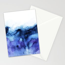 Abstract Indigo Purple Mountians Stationery Cards