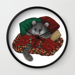 Wilbur the fat dormouse Wall Clock