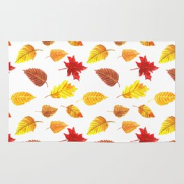 Autumn leaves pattern Rug
