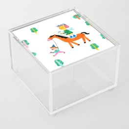 Colorful Cheerful Forest Acrylic Box