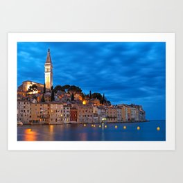 Rovinj, Croatia, During Blue Hour Art Print