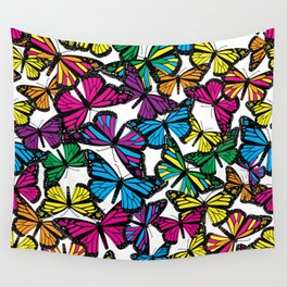 Vibrant Butterflies Wall Tapestry