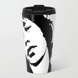 "Sir Michael Philip ""Mick"" JaggerBlack White Face, Music, Art Travel Mug"