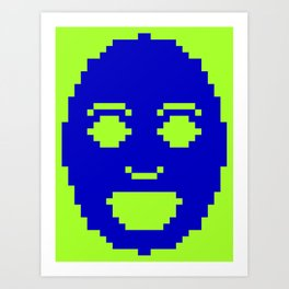 Pixel Face Art Print