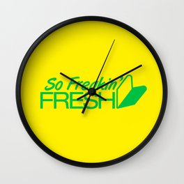 So Freakin' Fresh v2 HQvector Wall Clock