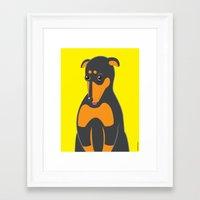 doberman Framed Art Prints featuring Doberman by ununuctio