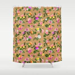 Frida Floral (Orange) Shower Curtain