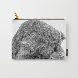 koala holding little koala b&w Carry-All Pouch