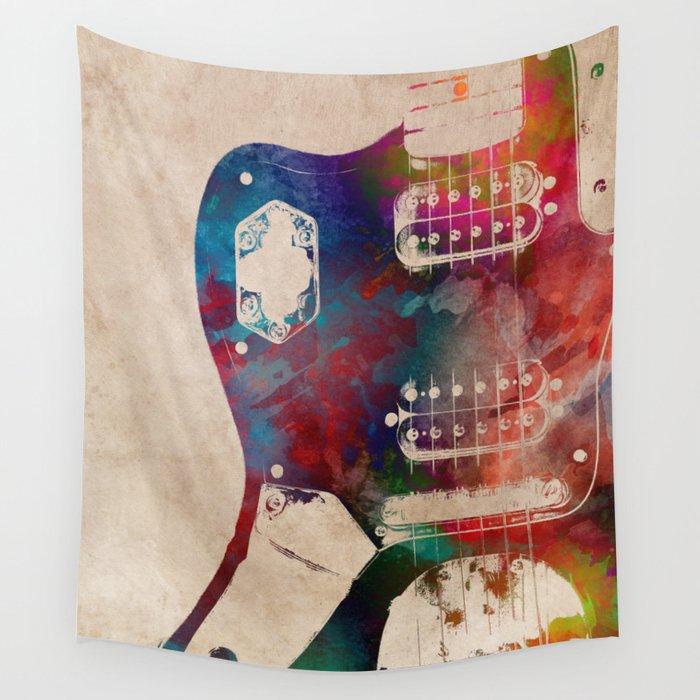 guitar art 1 Wall Tapestry