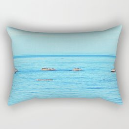 Circle of Rocks, The Cormorants and the Whale  Rectangular Pillow