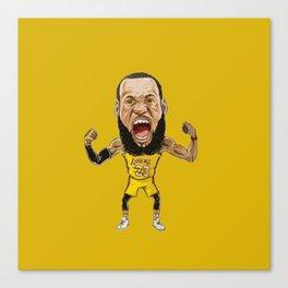 Lebron Scream LA23 Canvas Print
