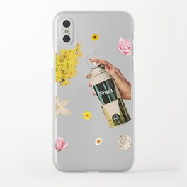 Spring Cleaning Clear iPhone Case