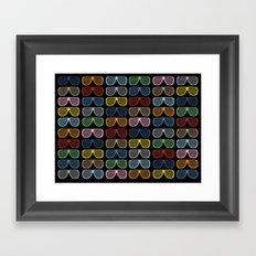 Rainbow Shutter Shades at Night Framed Art Print