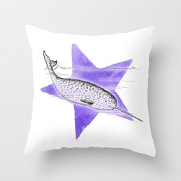 Narwhal Narwhal Throw Pillow