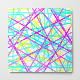 Abstract Lines CYM Metal Print