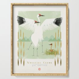 Whooping Crane Serving Tray