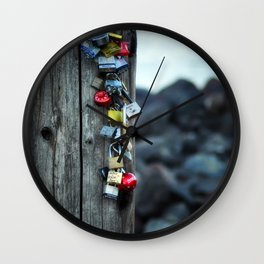 Locked Hearts Wall Clock