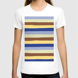 lumpy or bumpy lines abstract and summer colorful - QAB277 T-shirt