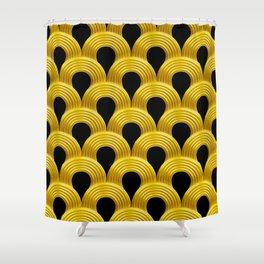 3-D Art Deco Parisian Art Décoratif Pattern Shower Curtain