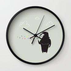 The Happy Dandelion Wall Clock