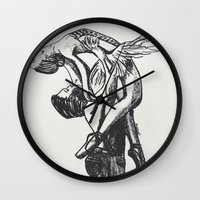 ballet Wall Clocks featuring Ballet by Rosalia Mendoza