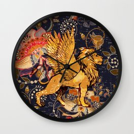 The Winged Lion Wall Clock