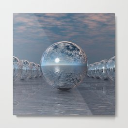 Spheres In The Sun Metal Print