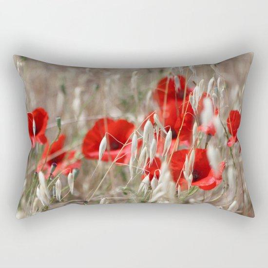 Poppies  - JUSTART © Rectangular Pillow