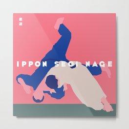 Ippon Seoi Nage Metal Print