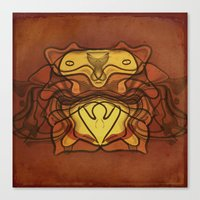 totem Canvas Prints featuring Totem by SensualPatterns