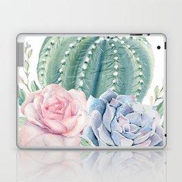 Cactus Rose Succulents Garden Laptop & iPad Skin