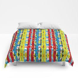 Graphic retro weave Comforters