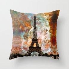 The Eiffel Tower - Paris France Art By Sharon Cummings Throw Pillow