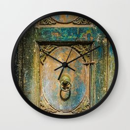 Architectural Design: The Weathered Door Wall Clock