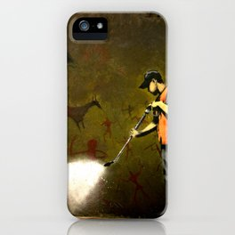 Banksy - Removing Historys Art iPhone Case