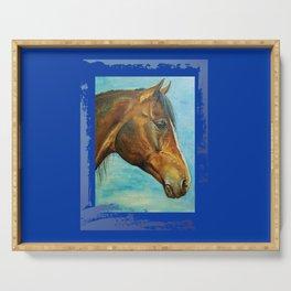 Princess Blue - Arabian Horse portrait Serving Tray