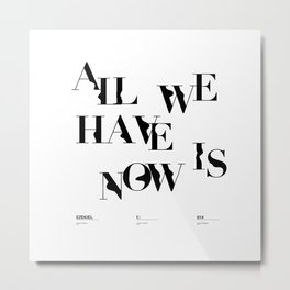 AWHN: NOW Metal Print