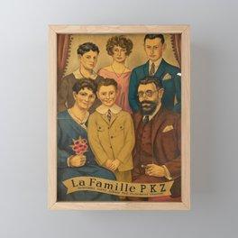 poster la famille pkz switzerland Framed Mini Art Print