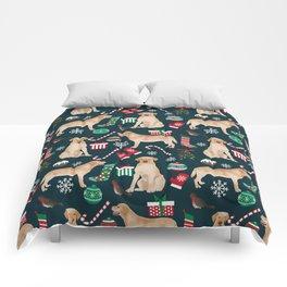 Yellow Labrador retriever christmas festive holiday gifts for dog person dog lover labrador retrieve Comforters