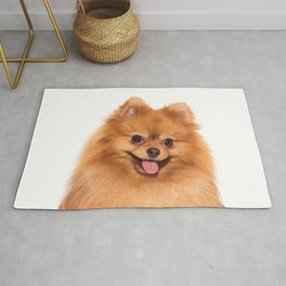 Pomeranian Portrait Rug